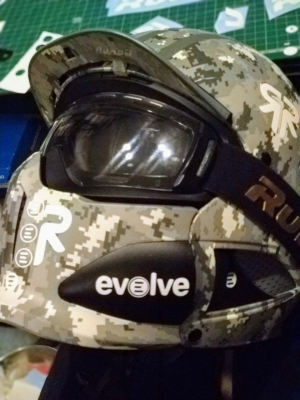 Custom Ruroc digital camo Evolve lid