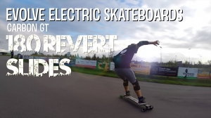 Evolve Electric Skateboards - (Carbon GT) 180 Revert Slides!