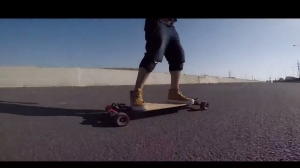 Electric skateboard highway fun day on evolve bamboo GT