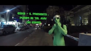 Purim 2018  on electric skateboards - ESK8 - IL Tel Aviv