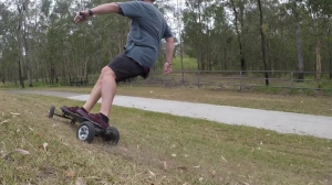 DirtE-Boarding on the Evolve in Brisbane